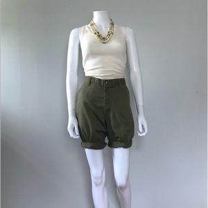 Vintage Boy Scout Shorts 28 waist Green Shorts